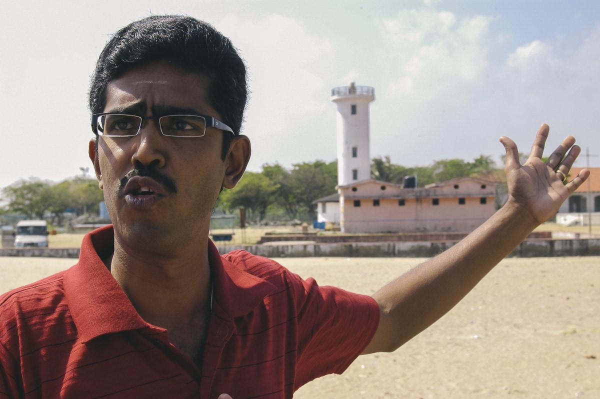 K. Pasupathi, tsunami survivor, in Karaikal, India