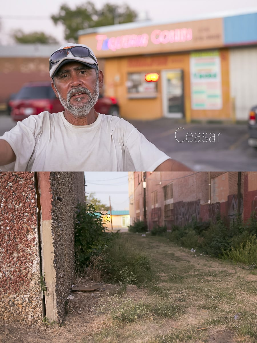 Dallas Homeless People: Caeser