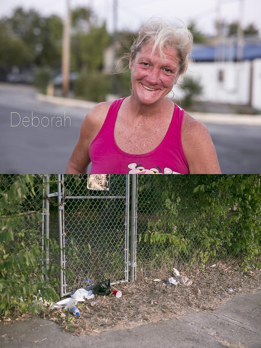 Dallas Homeless People: Deborah