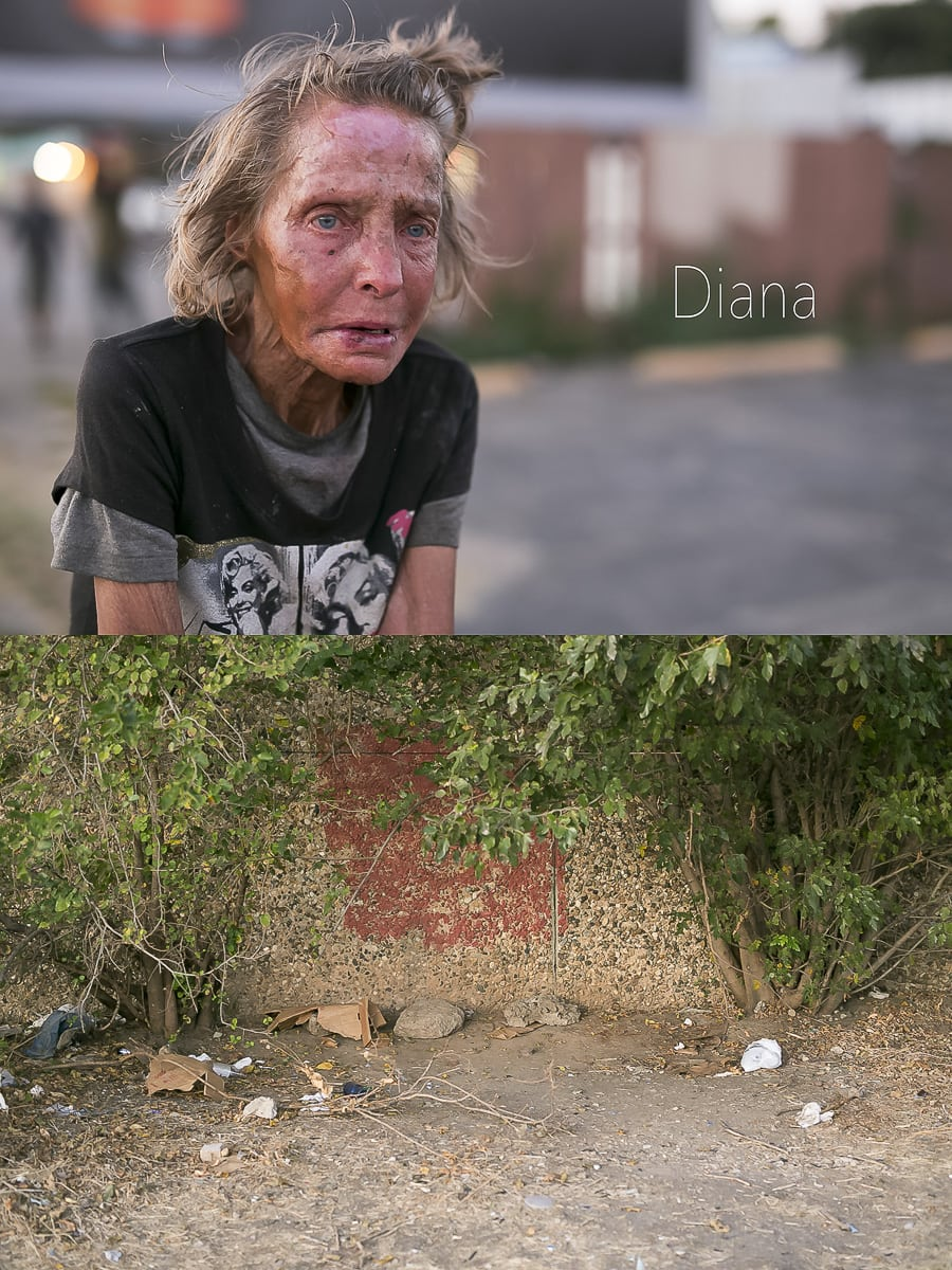 Dallas Homeless People: Diana