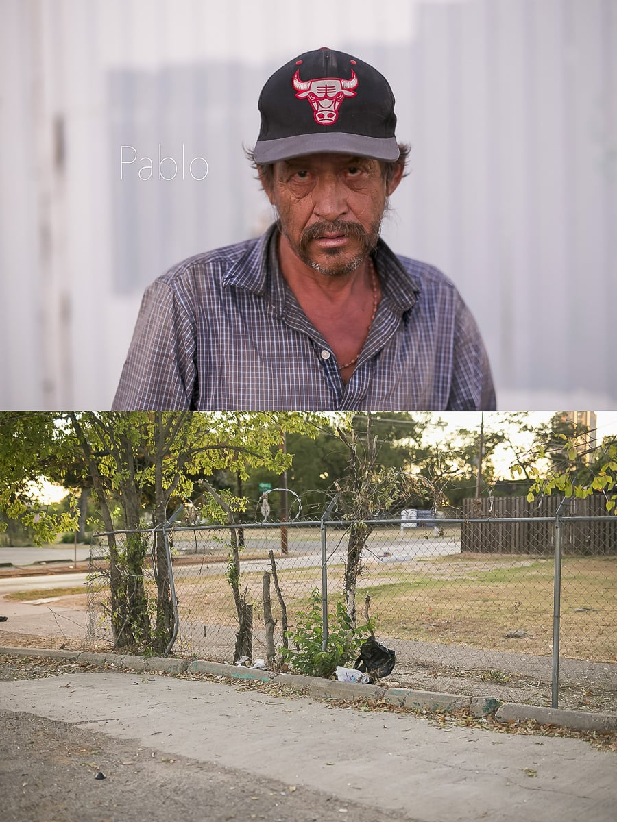 Dallas Homeless People: Pablo
