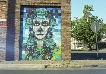 Old East Dallas Calavera Mural
