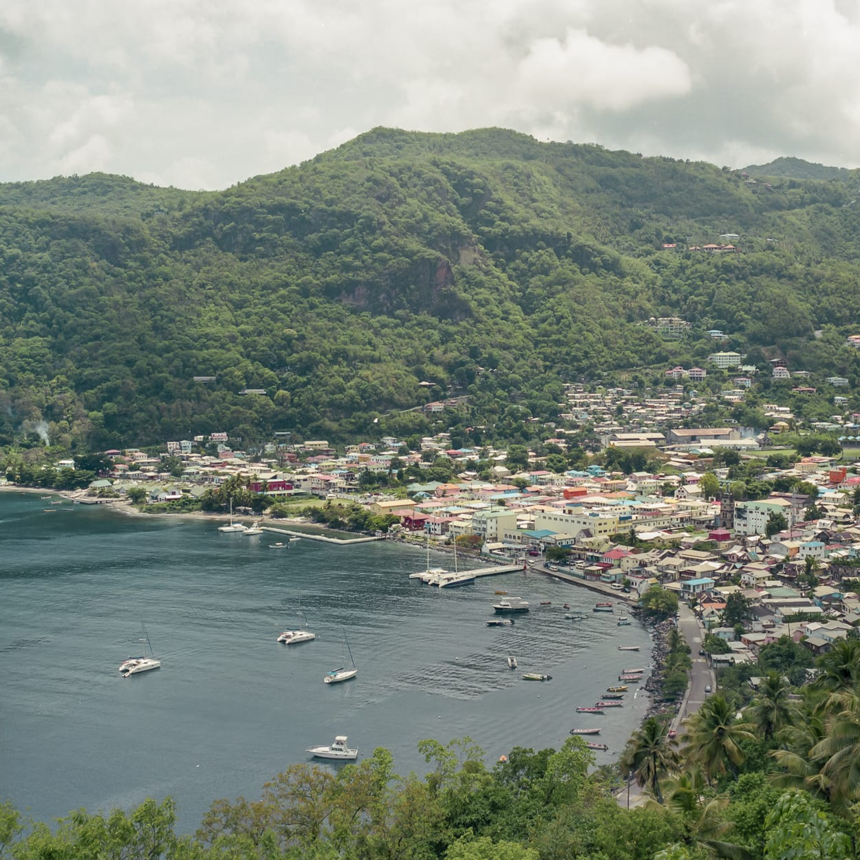 Soufriere bay in St. Lucia