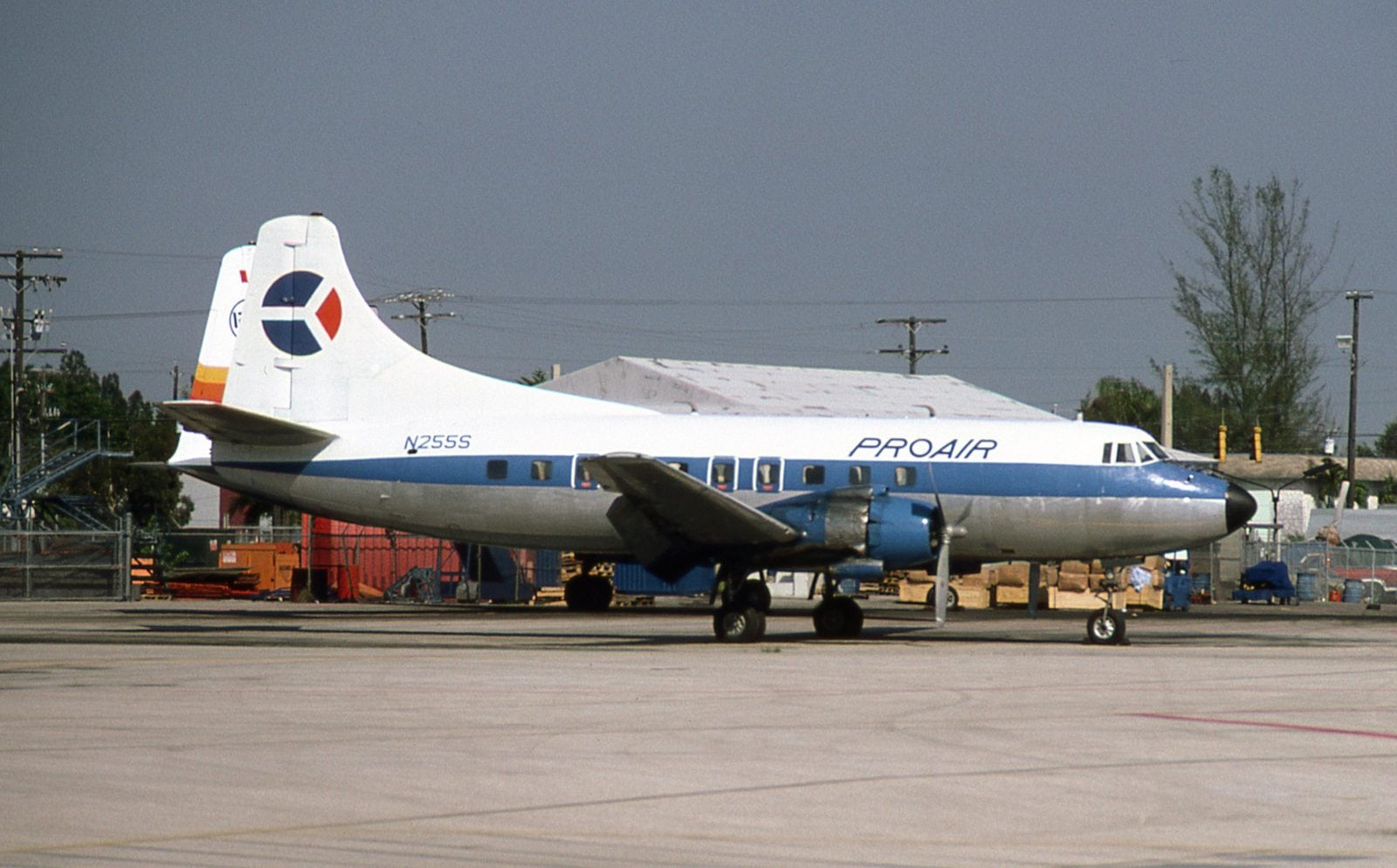 Martin 404 N255S is pictured at Miami International on November 8, 1984