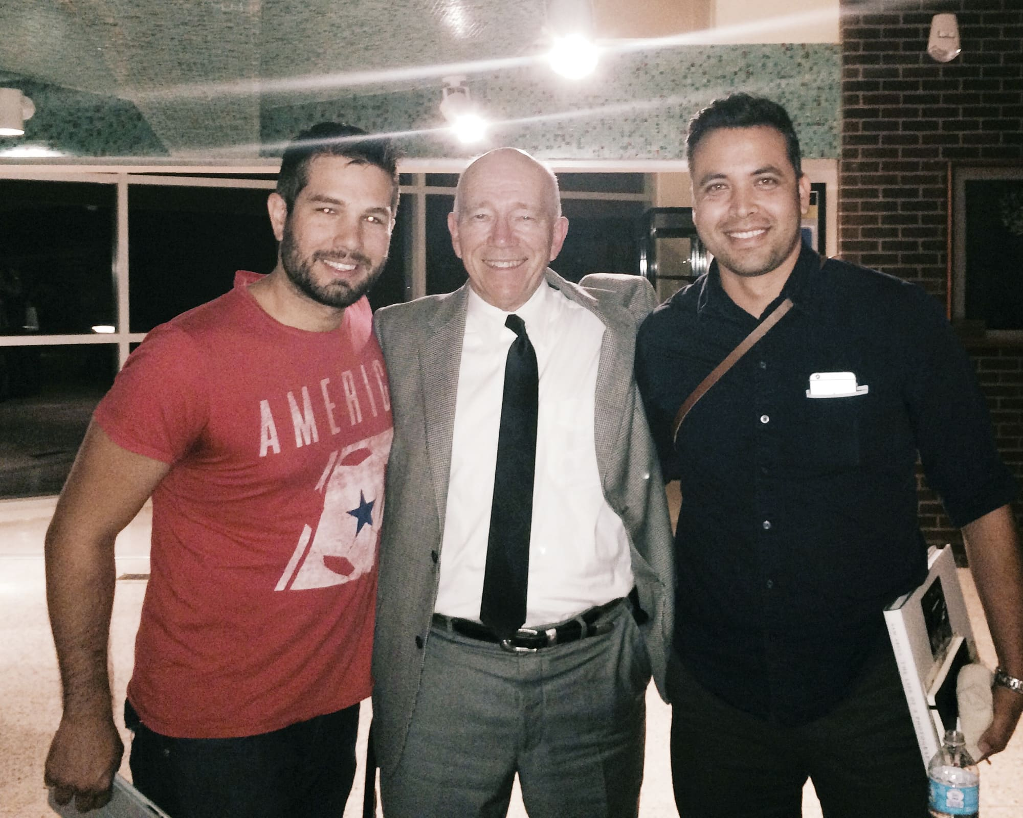 Hiram and I with Sam Abell
