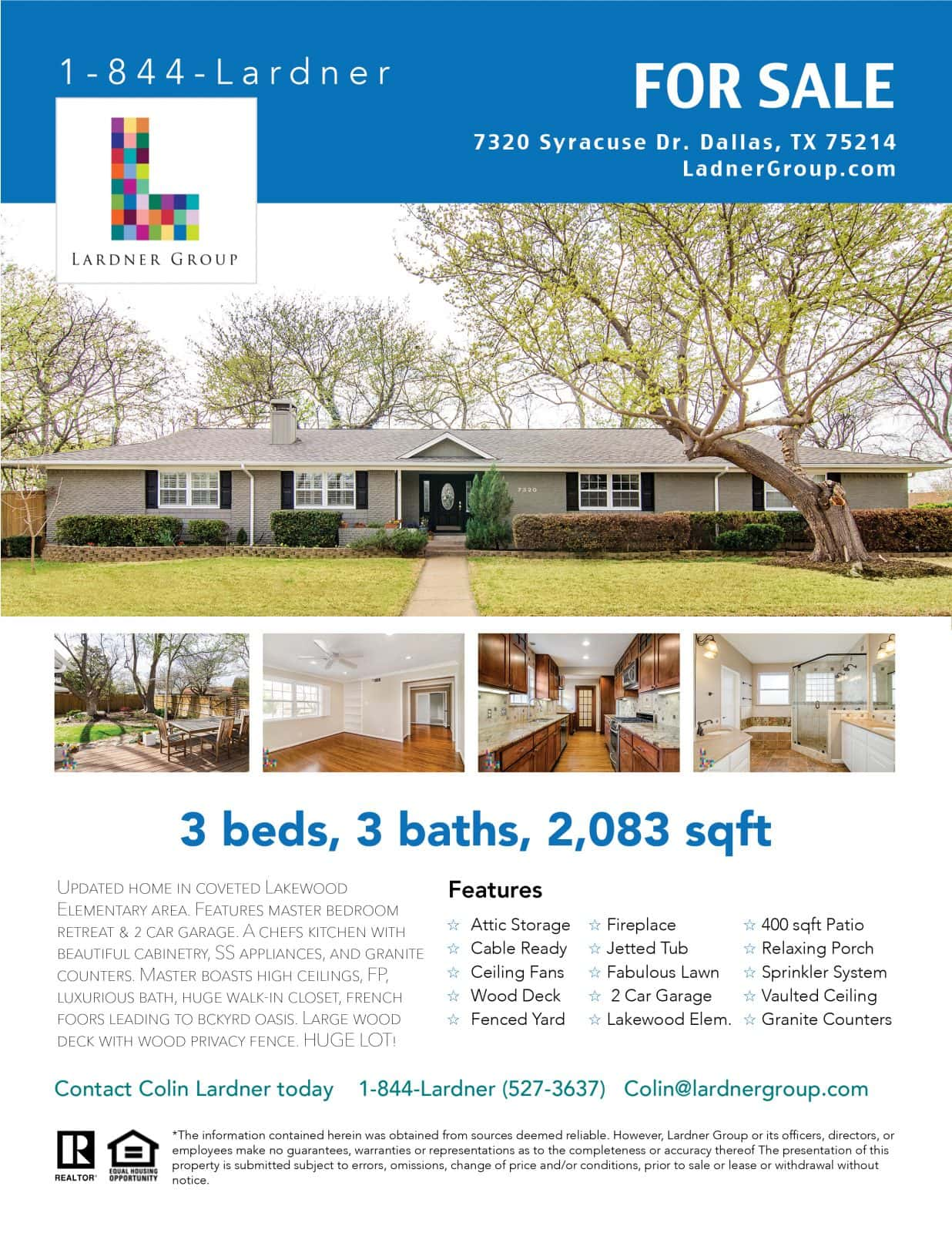 Real Estate Flyer Design by Matthew T Rader