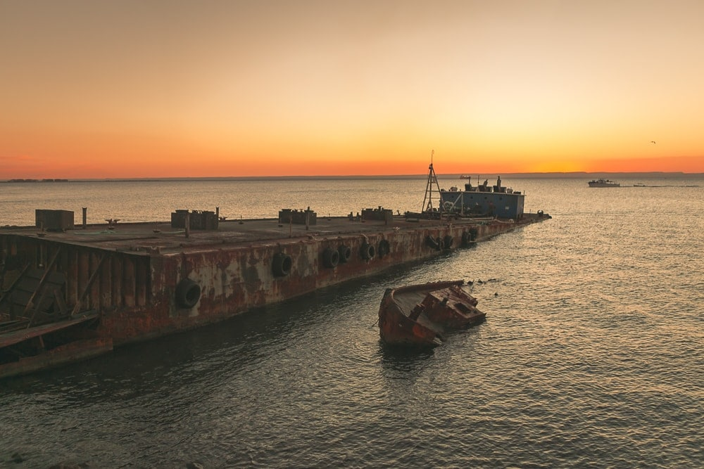 Abandoned Barge Urbex in La Paz, Mexico