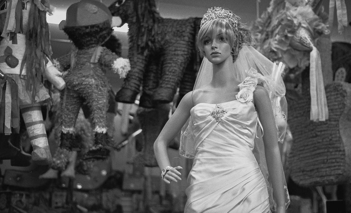 Hispanic Culture in Dallas, bridal dress and pinatas