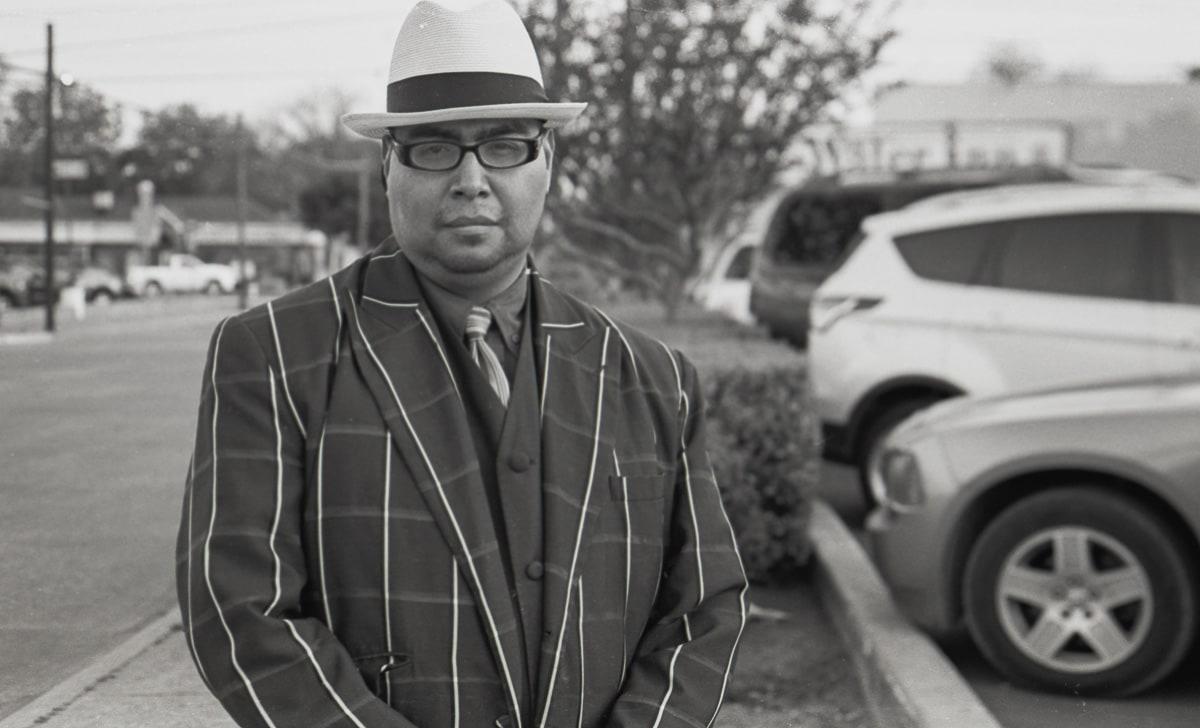 Hispanic Culture in Dallas, a street portrait of a man