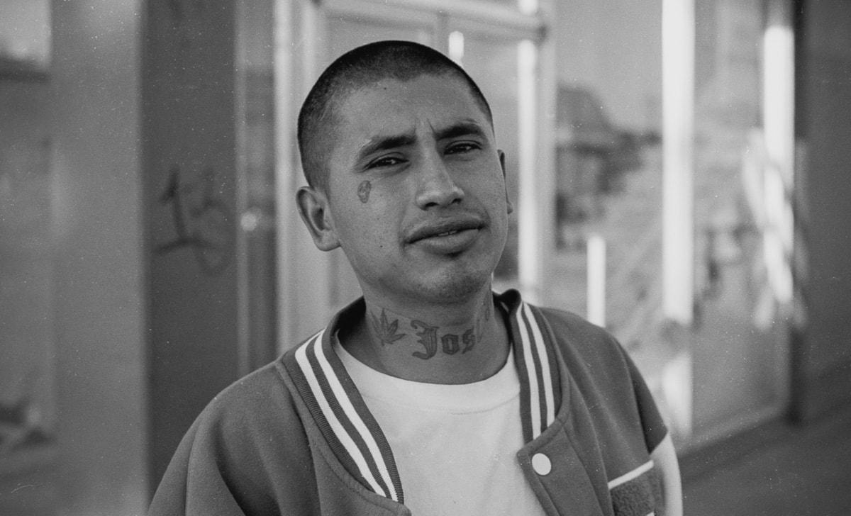 Street portrait of a Hispanic man