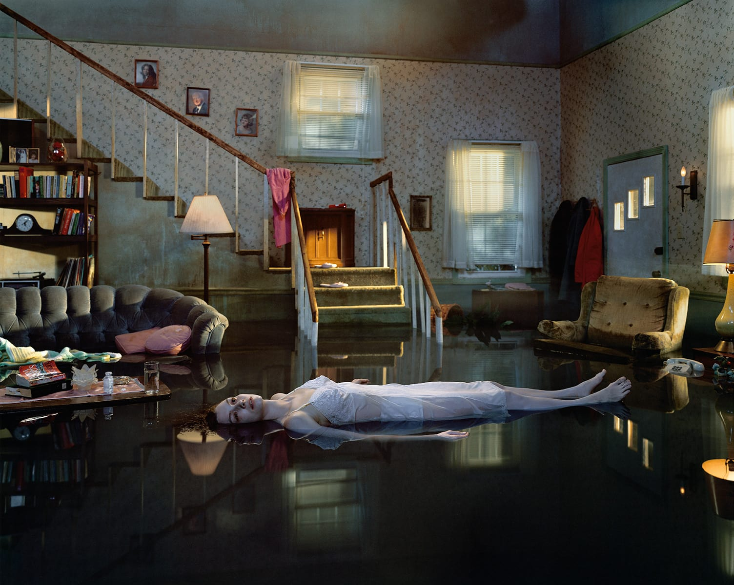 Tableau Photographer Gregory Crewdson - Untitled (Ophelia), 2001