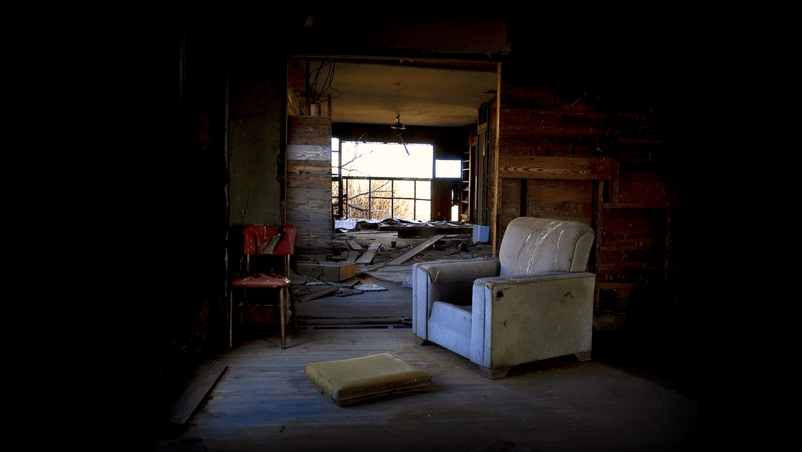 Empty Chair in An Abandoned House by Matthew T Rader