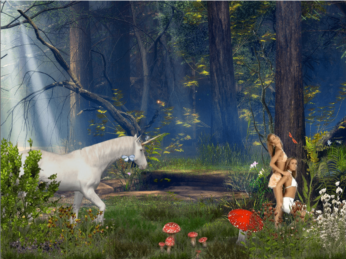 """Enchanted Foreststrippersnopeleeasy2girls,"""" 2012 by Petra Cortright"""