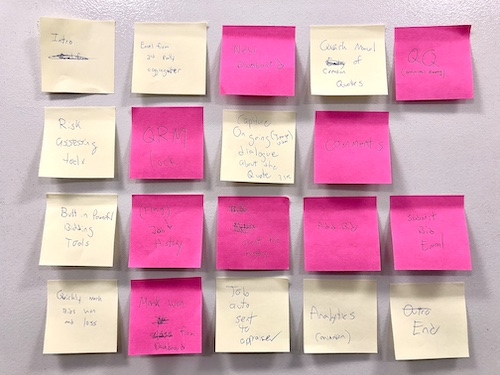 Post It Notes Ideation Session by Matthew T Rader