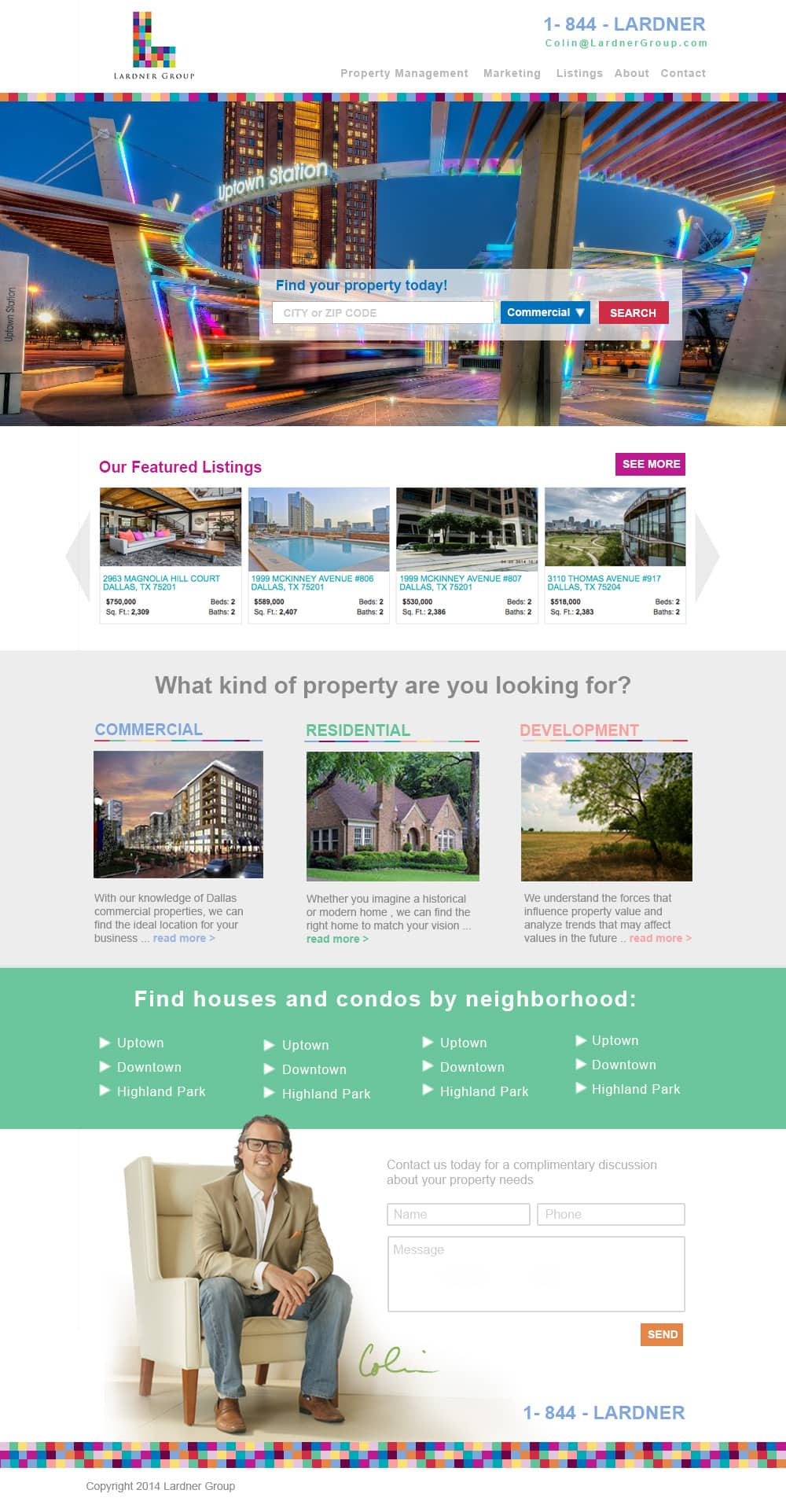 Real Estate Website Design by Matthew T Rader