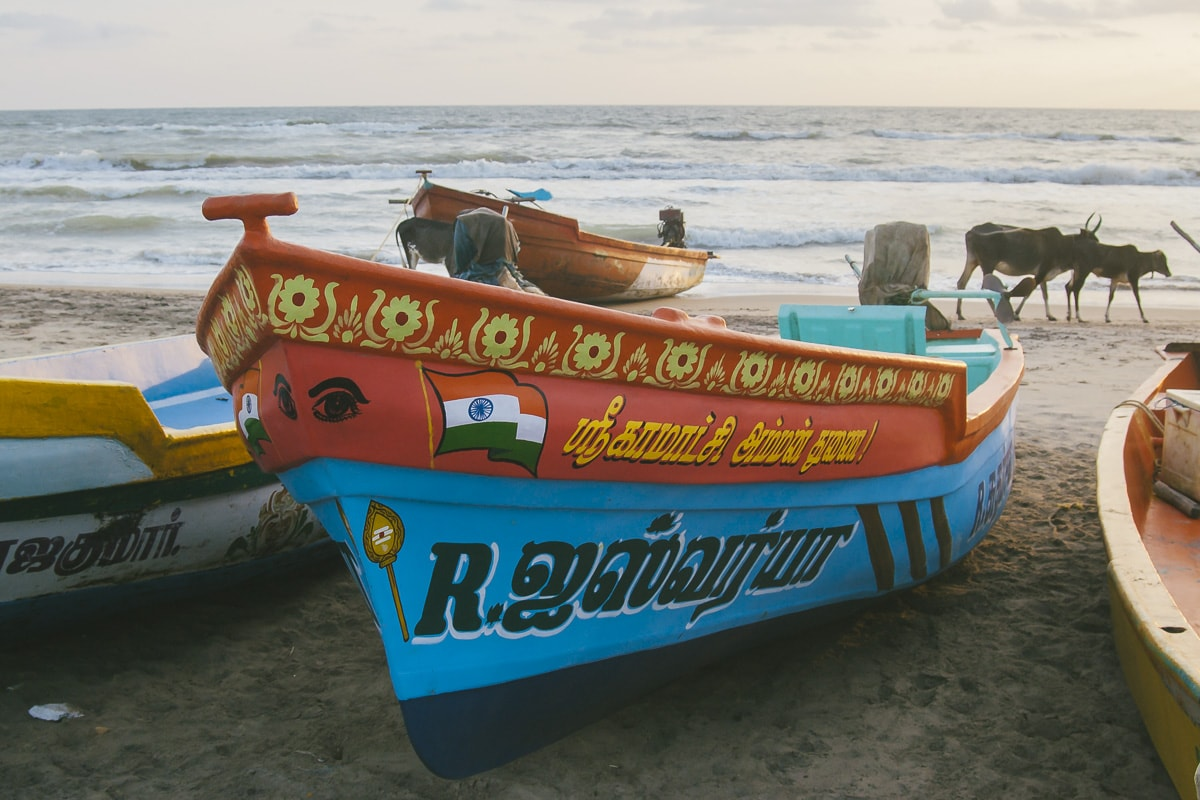Fishing boats on Nagapattinam Beach
