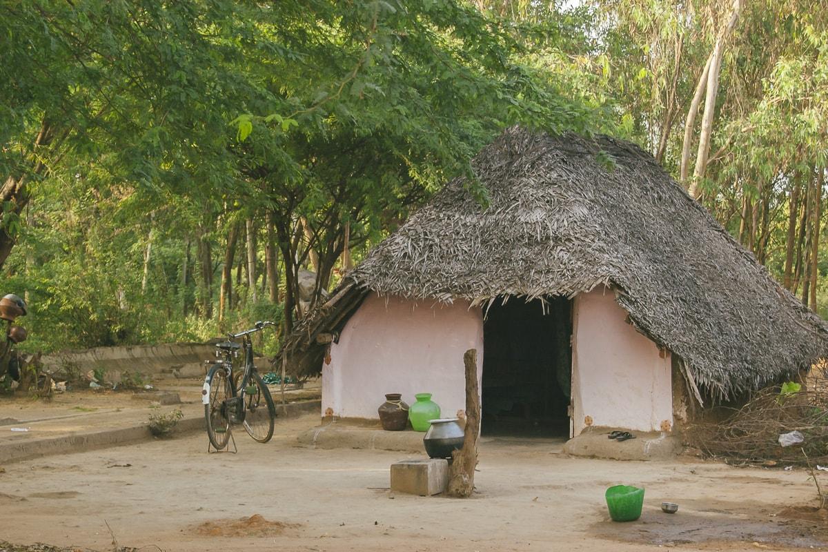 Puducherry, India poor village