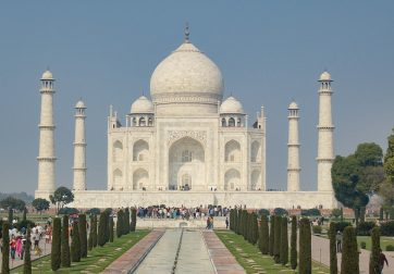 The Taj Mahal in Agra, India