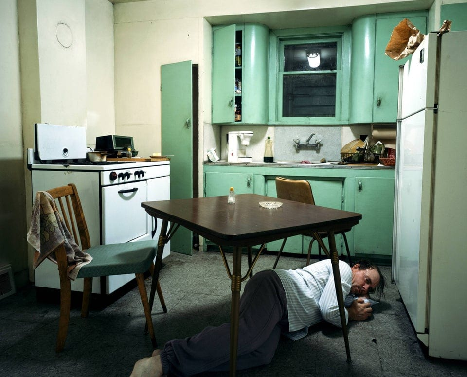 Tableau Photographer, Jeff Wall Insomnia, 1994.