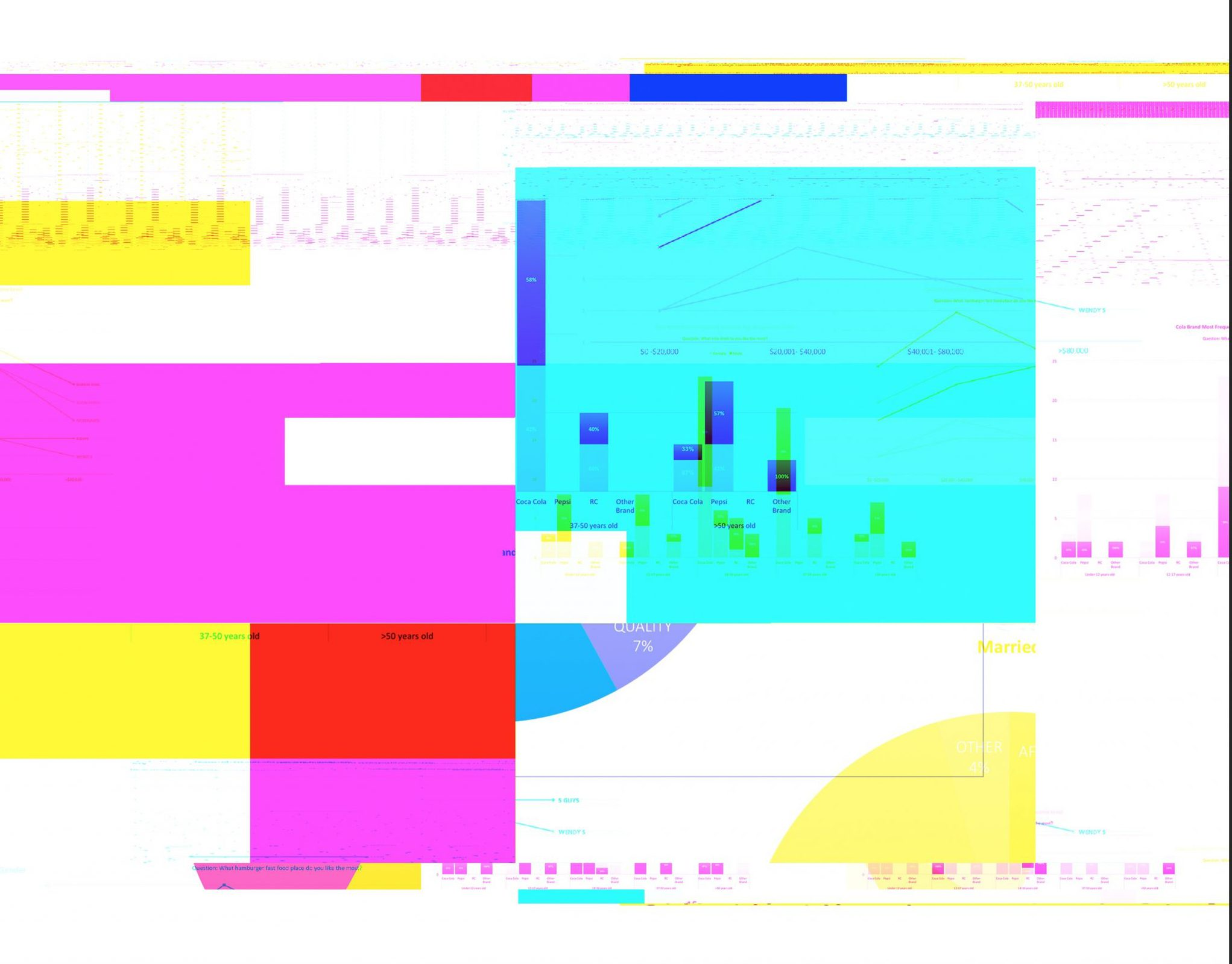 Colorful Data Glitch Art by Matthew T Rader