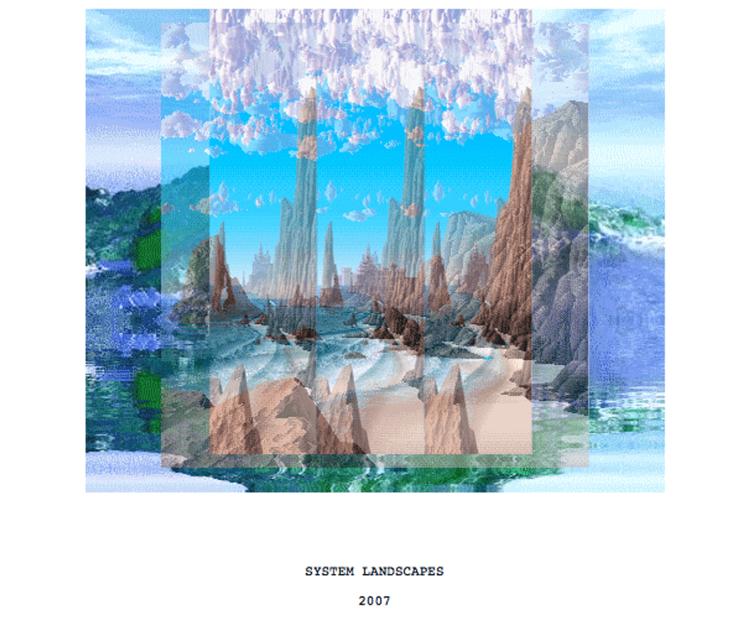 system landscapes by Petra Cortright