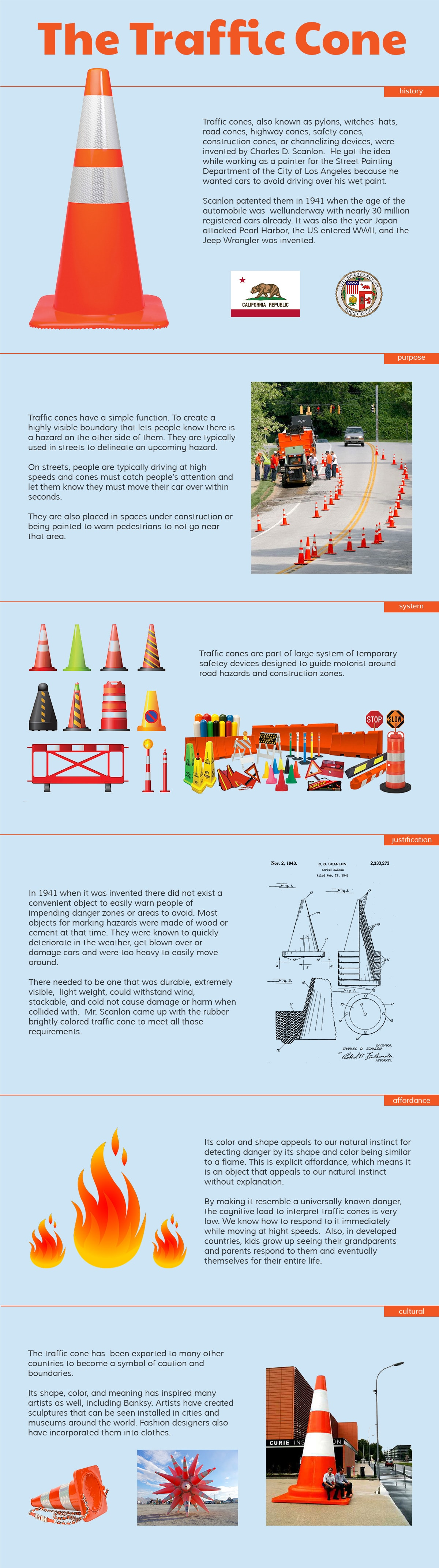 The Traffic Cone Infographic by Matthew T Rader