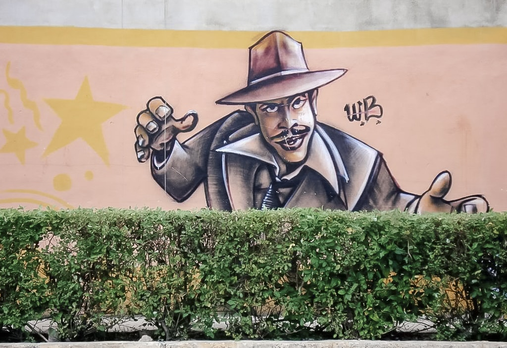 Murals, graffiti in Cancun, Mexico