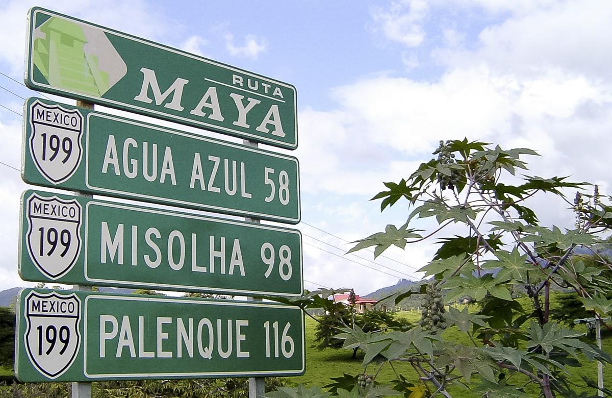 Chiapas Road Sign