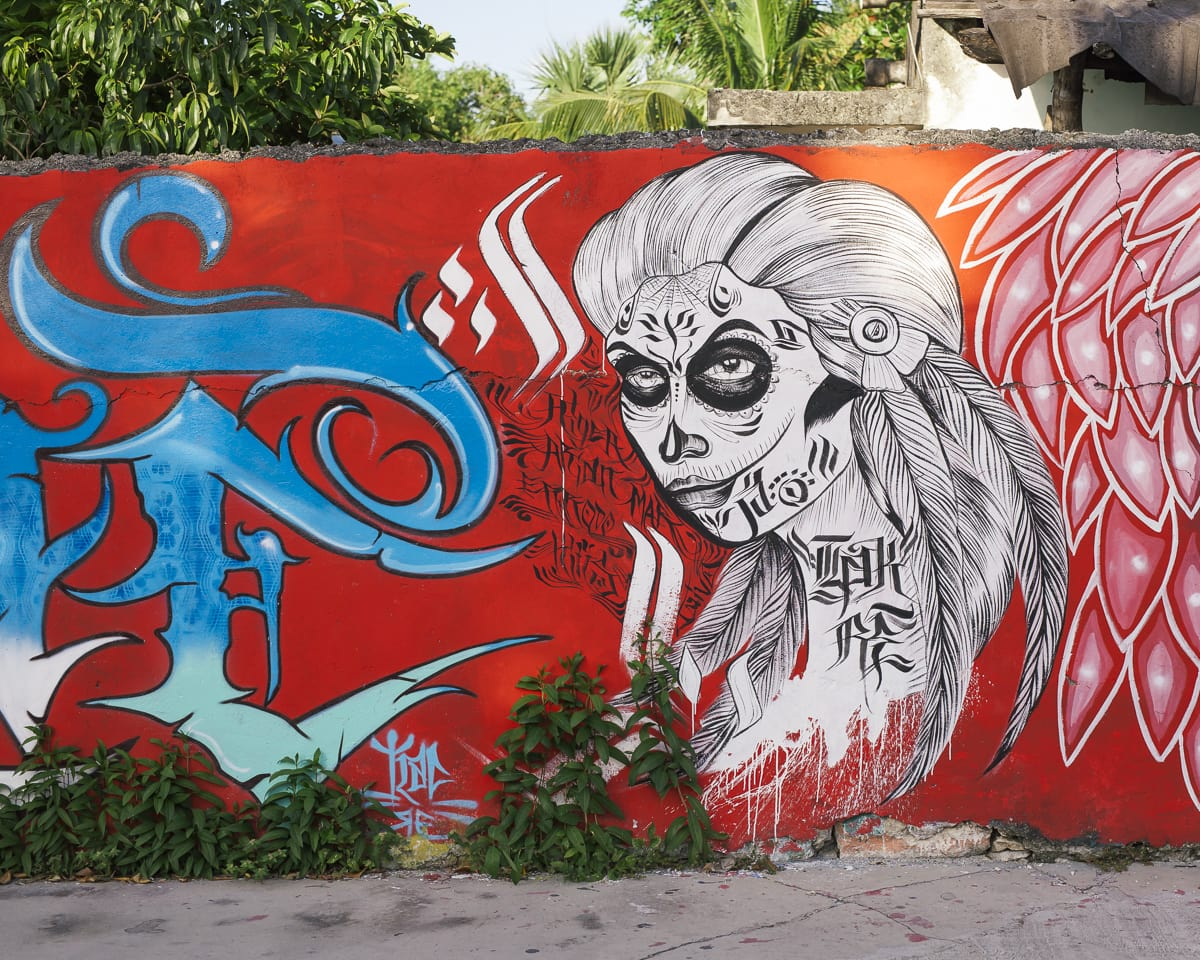 Graffiti in Cozumel, Mexico