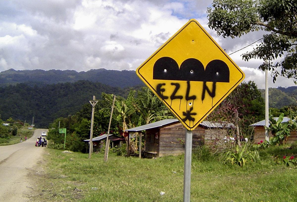 EZLN graffiti in Chiapas, Mexico