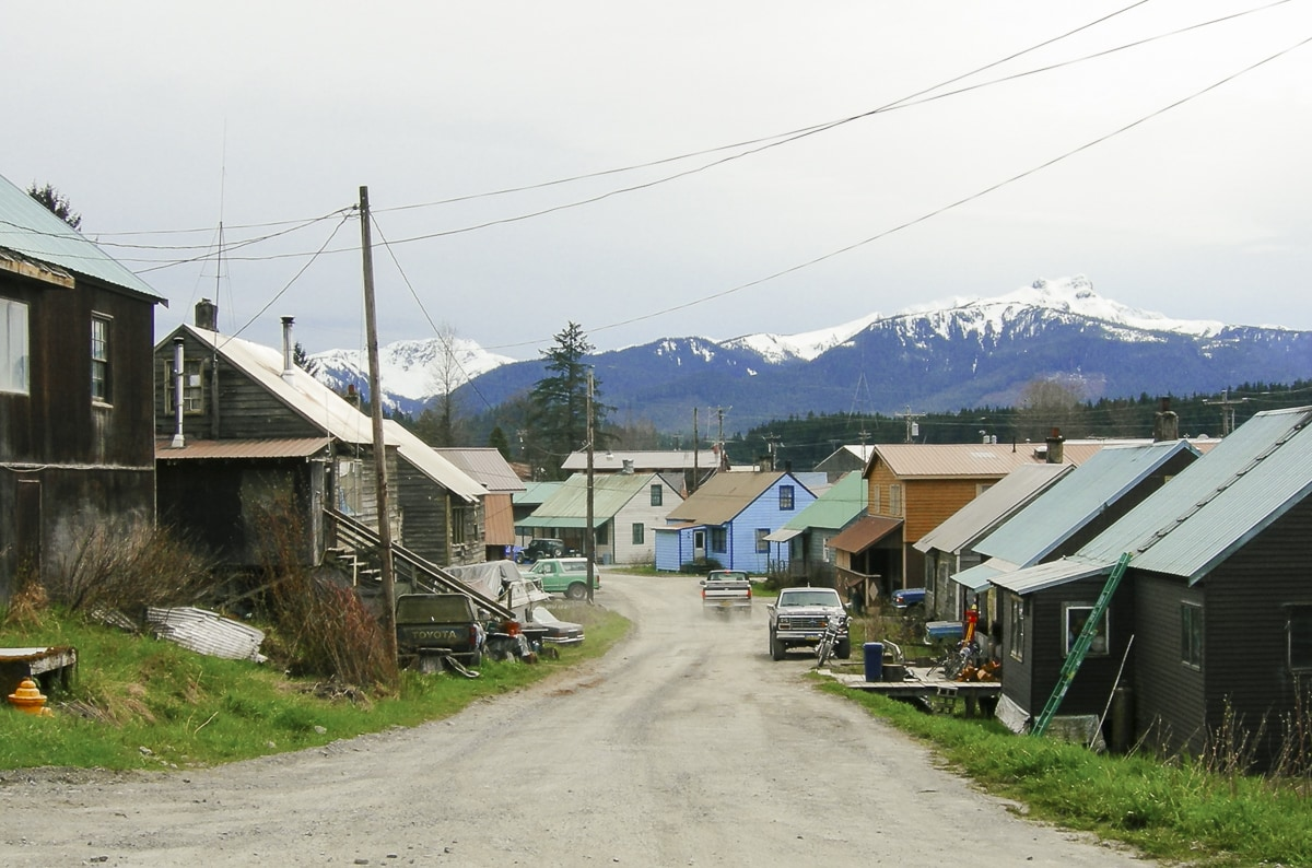 Old houses in Hoonah, Alaska