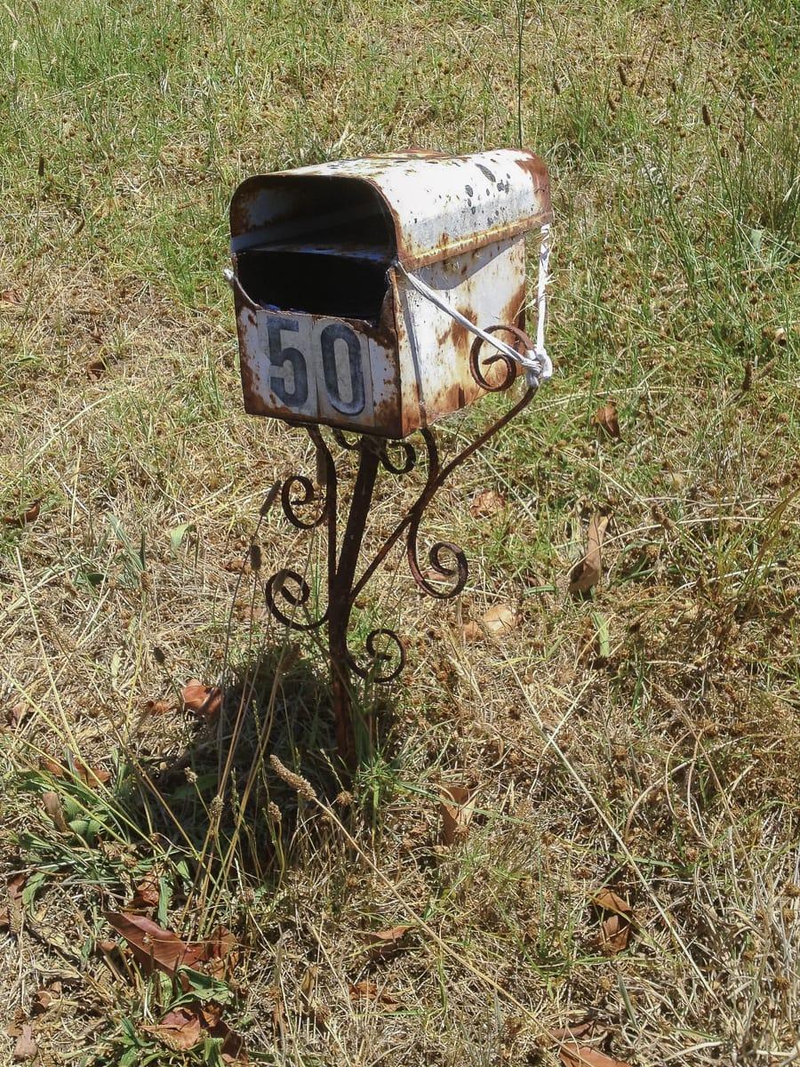 An old mailbox in Healesville, Australia