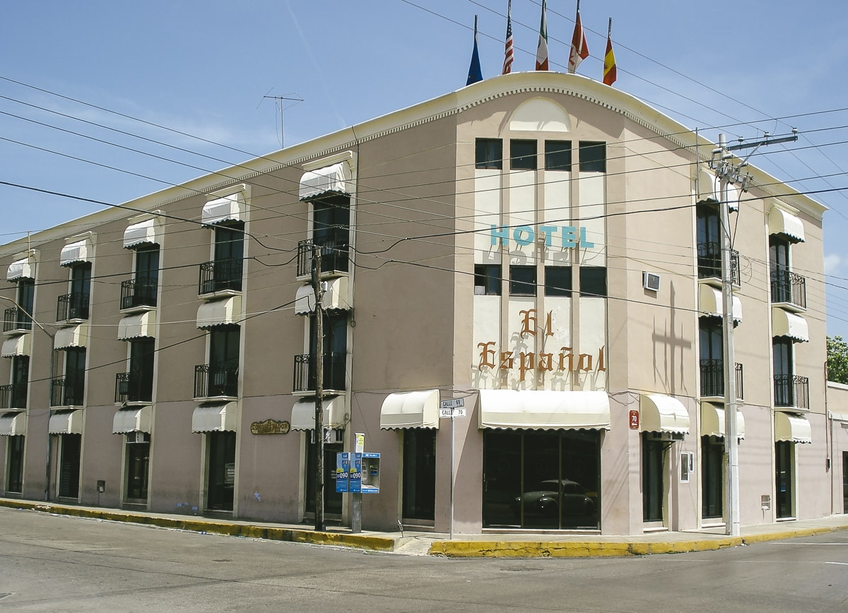 The hotel we stayed in while we were in Merida
