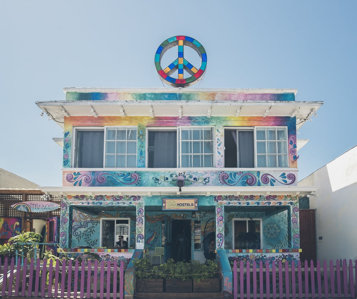 Peace Hostel at Ocean Beach, San Diego
