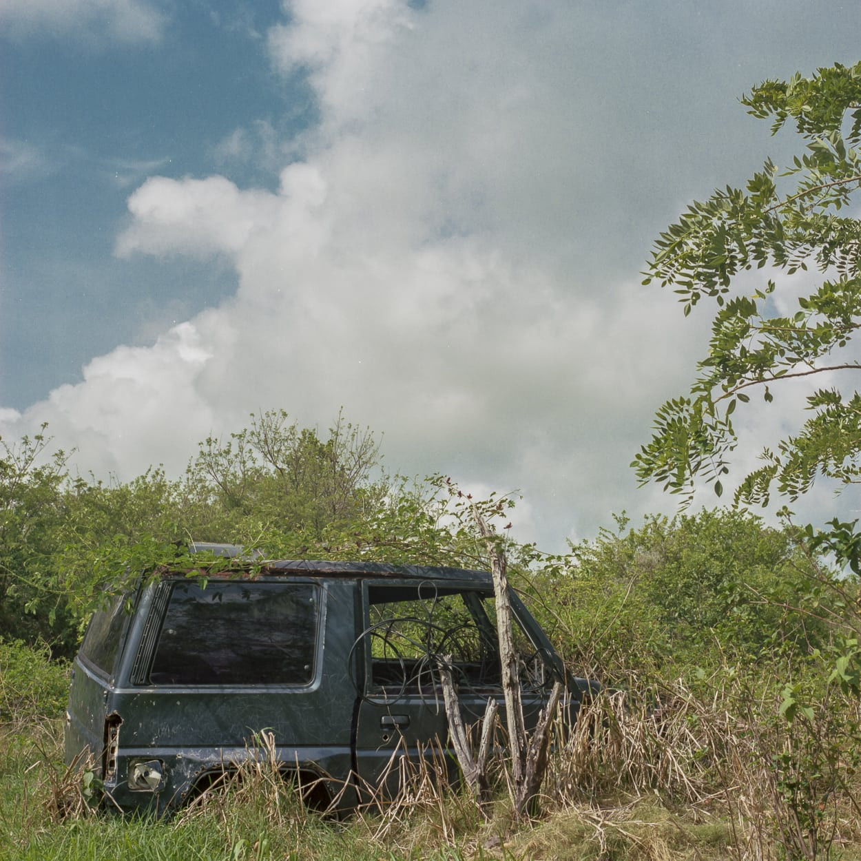 An abandoned vehicle