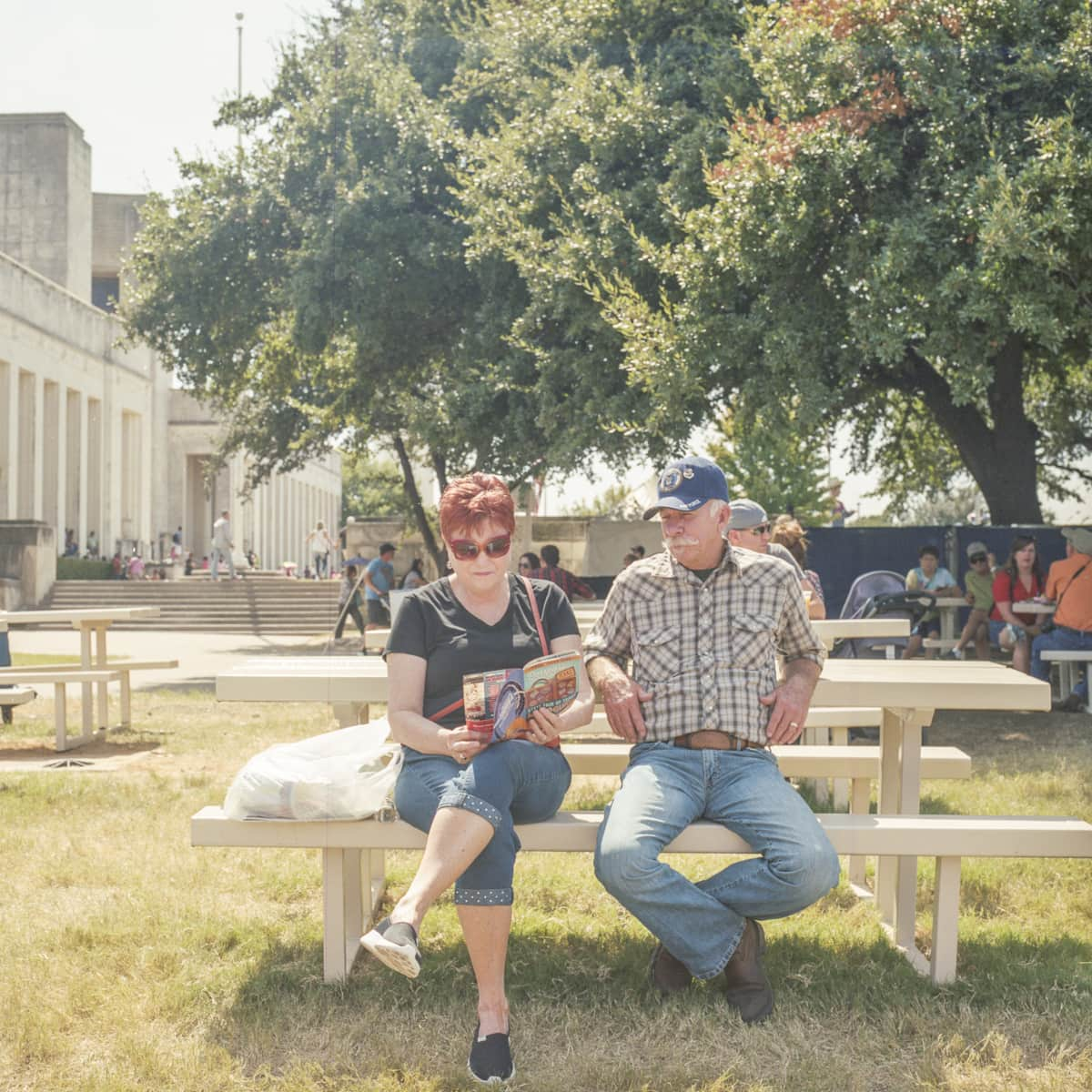 A couple at the State Fair of Texas on Medium Format Film
