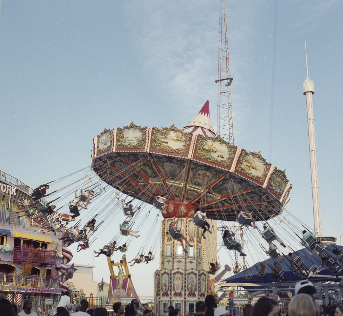 The swing ride or chair swing ride at the Texas State Fair