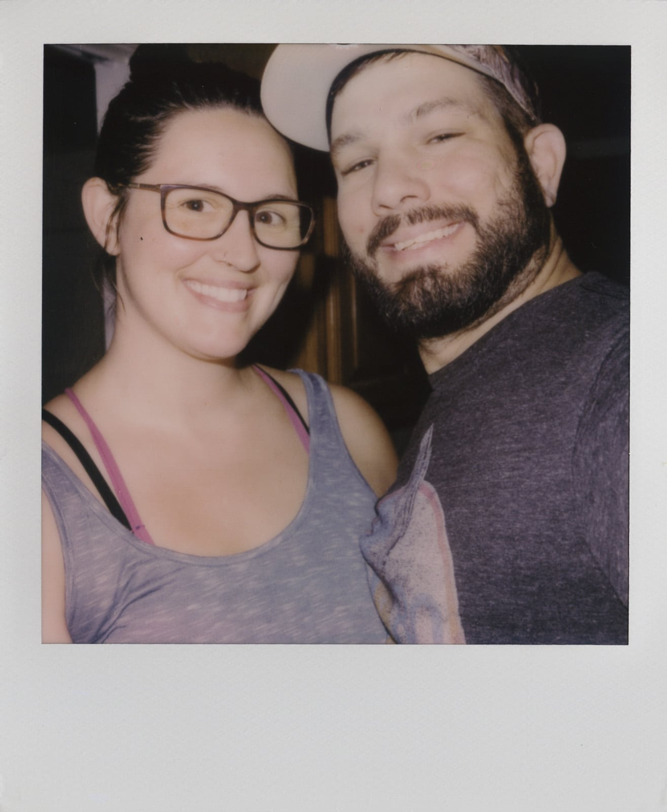 Polaroid photos selfie of us both shortly before we left