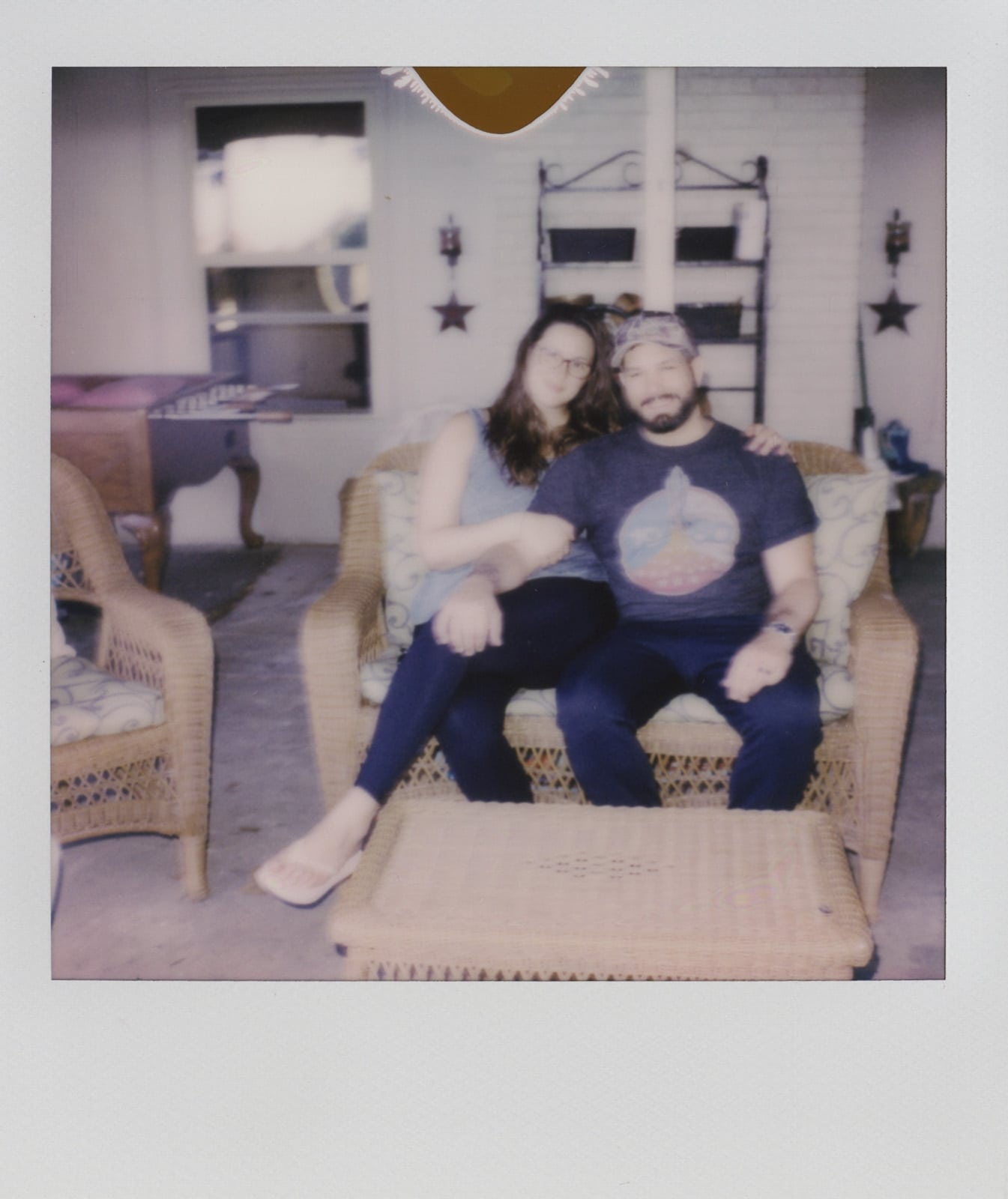 Us on our last day there Polaroid photos