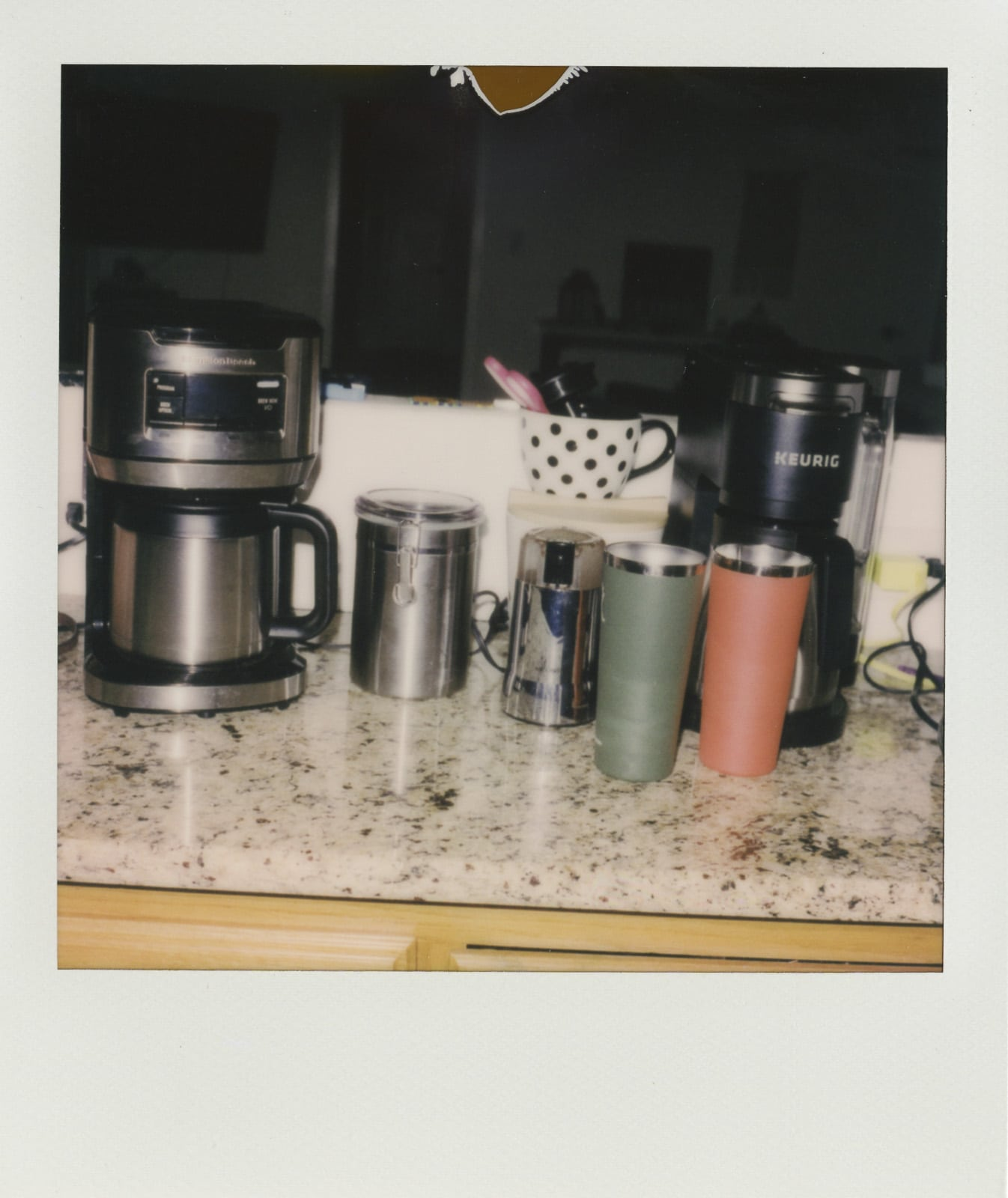 Our coffee bar and mugs we used everyday