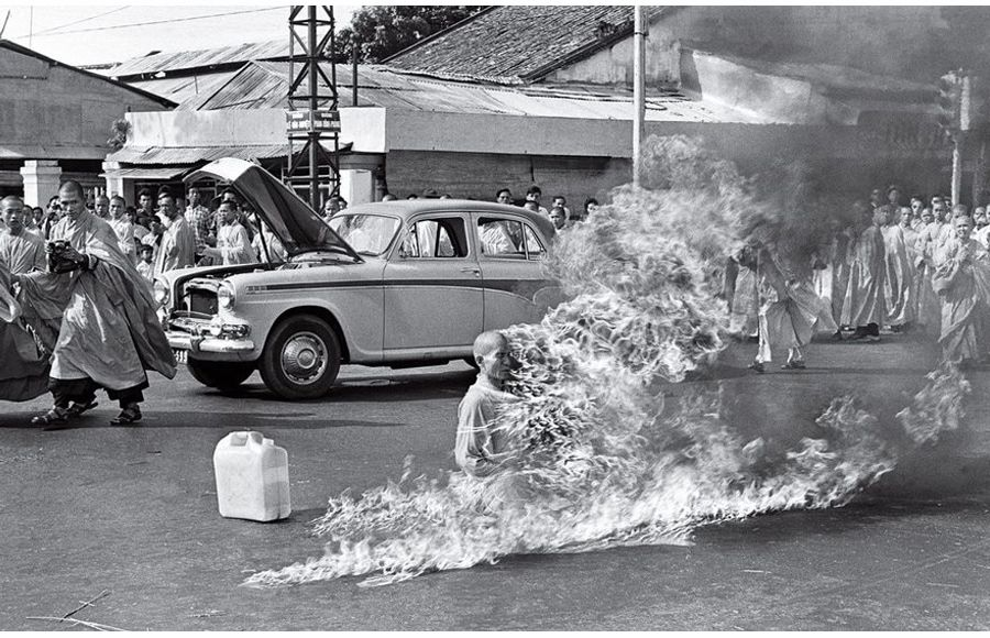 The Burning Monk, Malcolm Browne, 1963, Memorable Photo