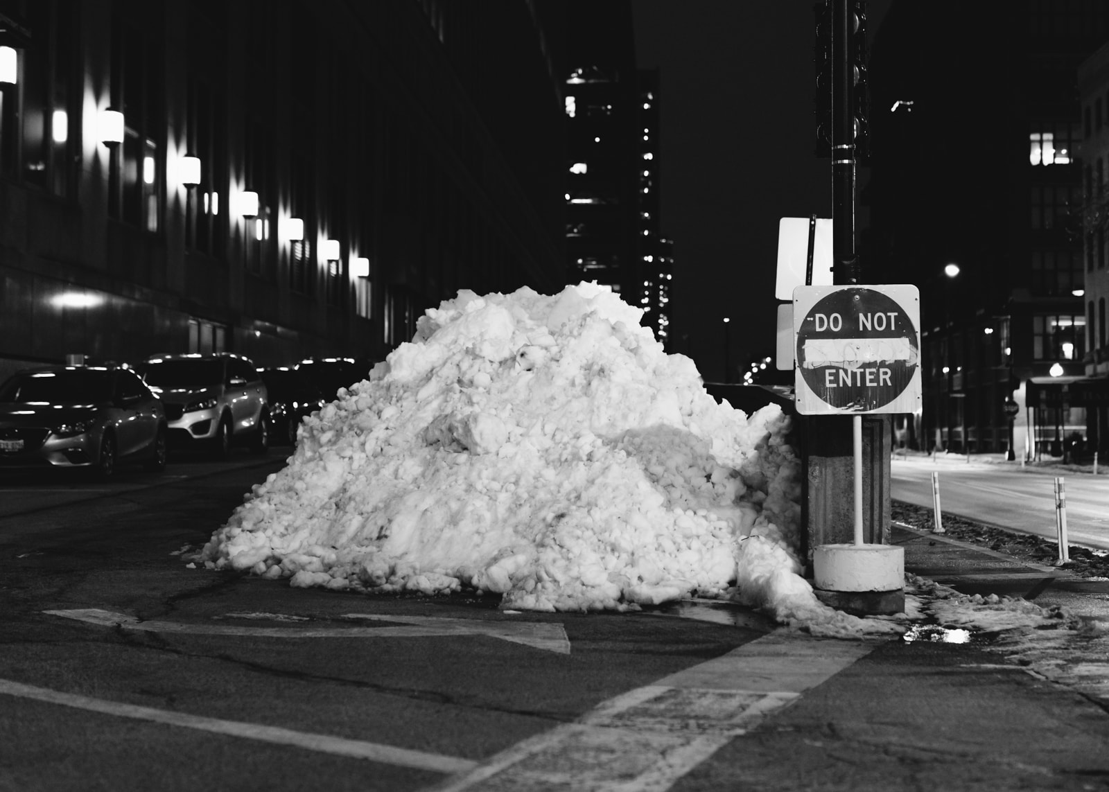 A snow pile in downtown Chicago, Illinois. 2020 Best Photos