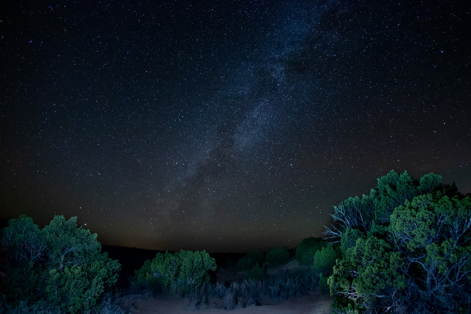The Milky Way Galaxy seen from Copper Breaks State Park in Texas