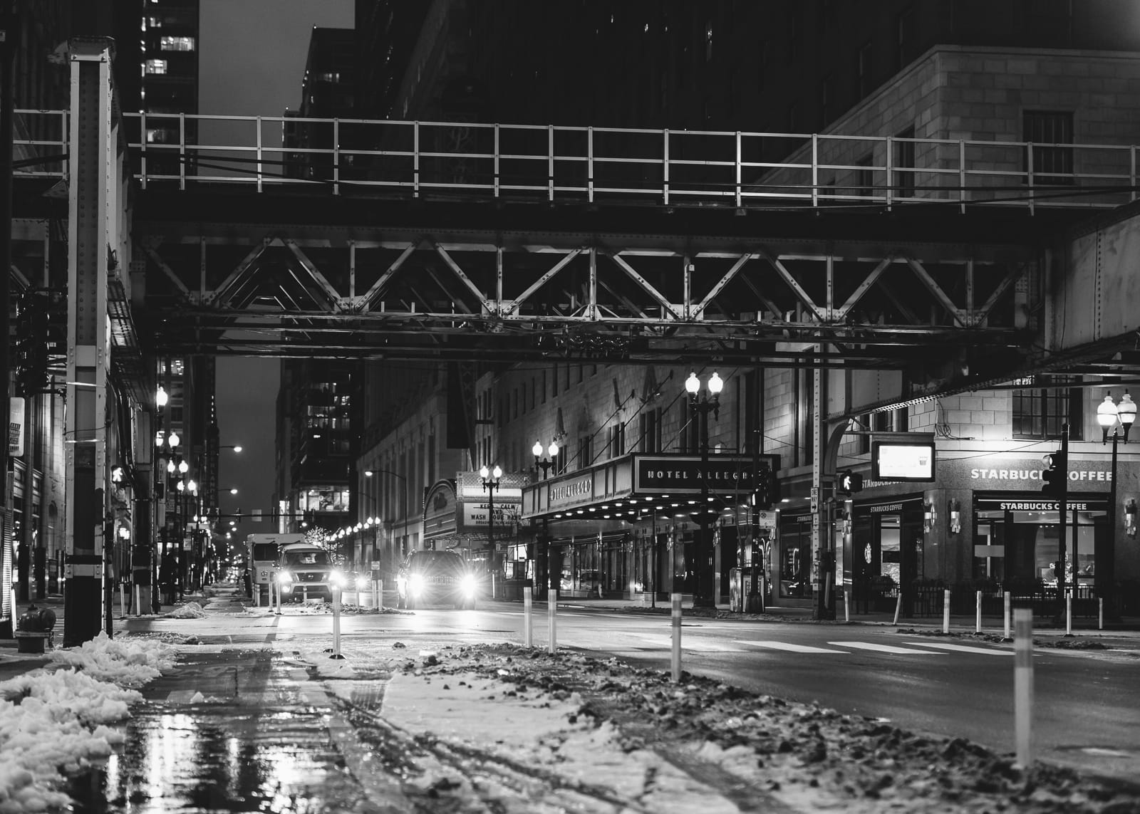 Downtown Chicago at Night, 2020