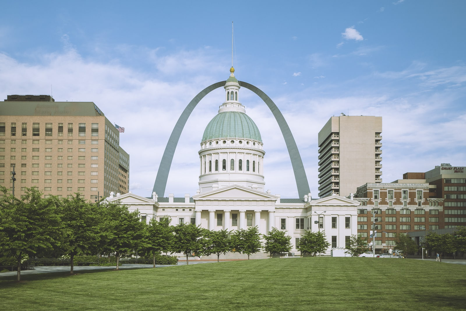 The Gateway Arch from downtown St Louis