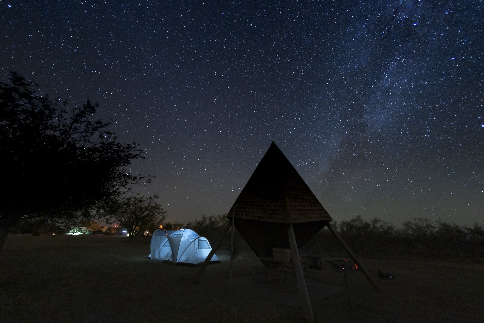 Stargazing at Copper Breaks State Park, Texas