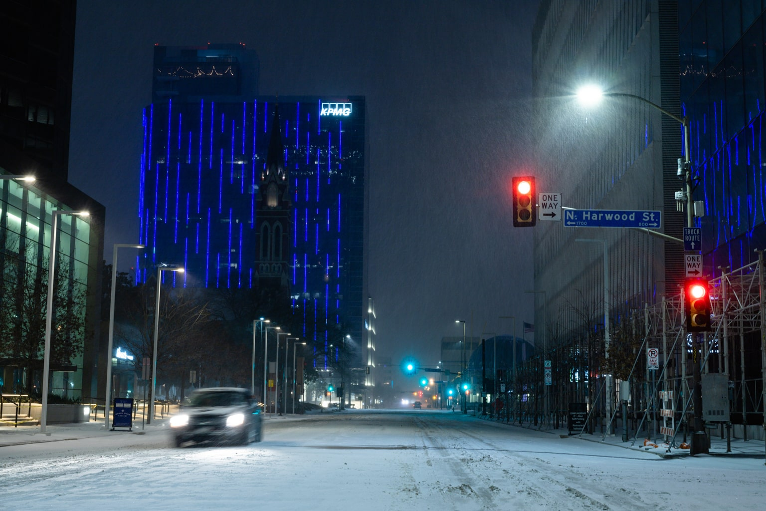 Downtown Dallas Snow Storm 2021