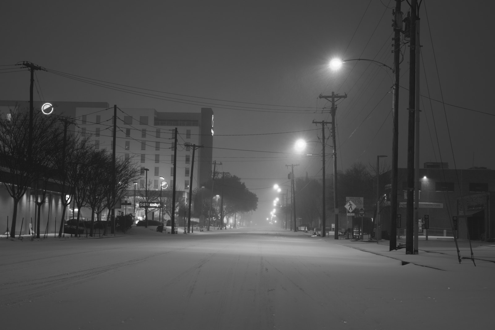 Snowstorm in Old East Dallas