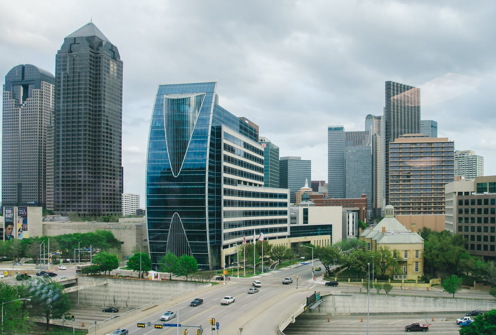 Uptown Dallas right before a storm hit