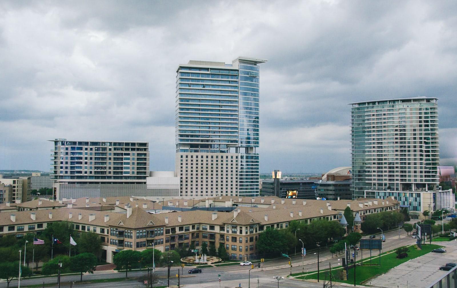 The W Hotel in a Dallas Storm